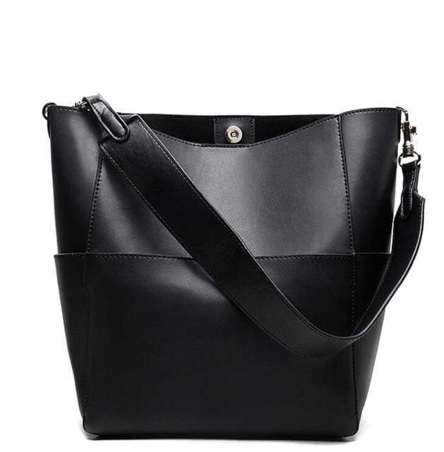 Thick Strapped Leather Crossbody Bag and Purse
