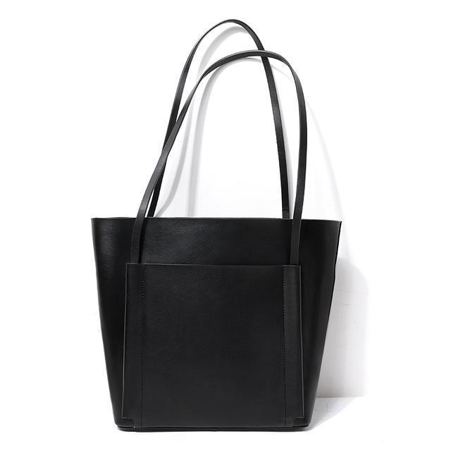 Genuine Leather Tote Bag, , Gifts for Designers, Clean minimal gifts for designers and creatives, gift, design, designer - Gifts for Designers, Gifts for Architects