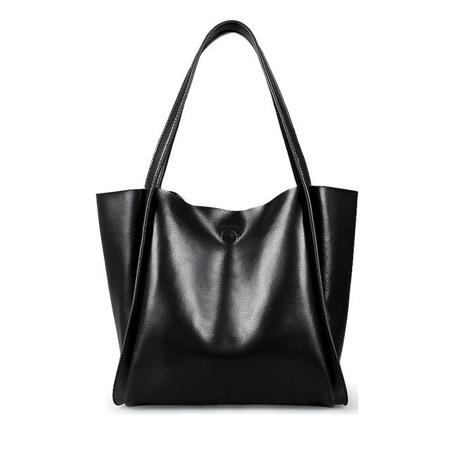 Glossy Leather Loose Minimalist Tote Bag, , Gifts for Designers, Clean minimal gifts for designers and creatives, gift, design, designer - Gifts for Designers, Gifts for Architects