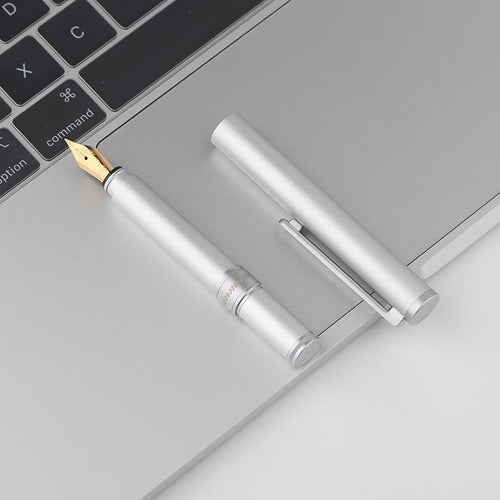 Minimalist Aluminum Modern Fountain Pen, , Gifts for Designers, Clean minimal gifts for designers and creatives, gift, design, designer - Gifts for Designers, Gifts for Architects