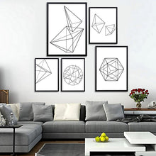 Modern Nordic Minimalist Black White Geometric Shapes Wall Art, , Gifts for Designers, Clean minimal gifts for designers and creatives, gift, design, designer - Gifts for Designers, Gifts for Architects