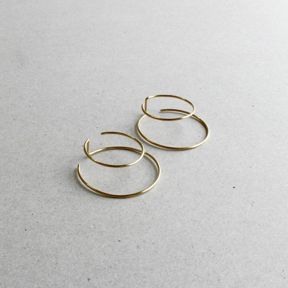 Handmade Minimalist Double Ring Earrings, , Gifts for Designers, Clean minimal gifts for designers and creatives, gift, design, designer - Gifts for Designers, Gifts for Architects