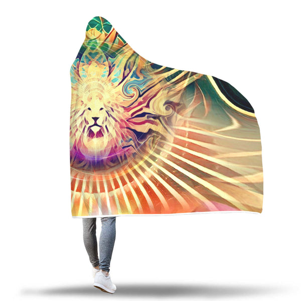 Lion King - Hooded Blanket_artist-Carlo-Bressan_Breathing-Wellness