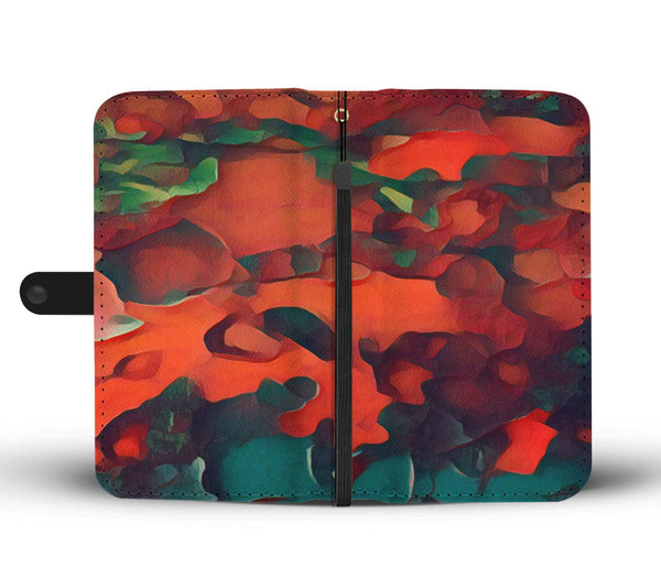 Rainbow Tree Red - Wallet Phone Case_artist-Carlo-Bressan_Breathing-Wellness