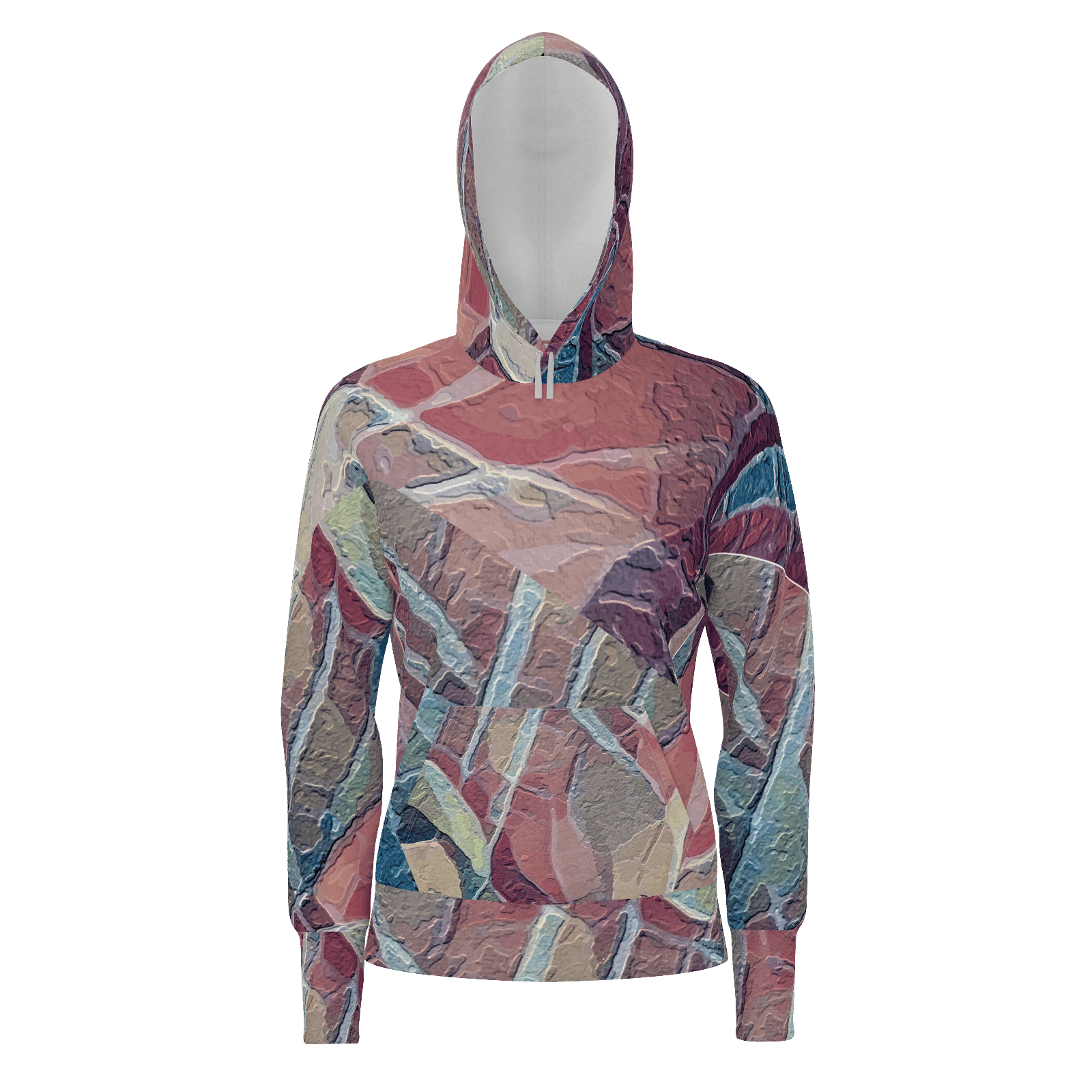 Sedona - Women's Pullover Hoodie Cotton (350gsm)_artist-Carlo-Bressan_Breathing-Wellness