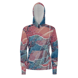 Blueberry Field - Women's Pullover Hoodie Cotton 350gsm_artist-Carlo-Bressan_Breathing-Wellness