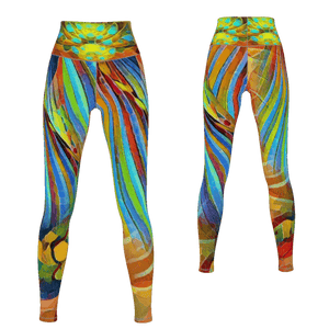 Most Likely - Yoga Pants - 4 Way Stretch Leggings_artist-Carlo-Bressan_Breathing-Wellness