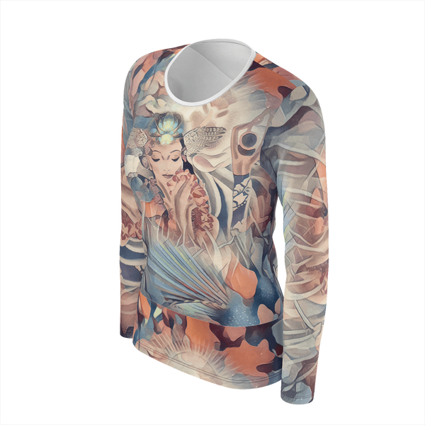 Aloha Time - Long Sleeve T-Shirt Deluxe Pima Cotton_artist-Carlo-Bressan_Breathing-Wellness