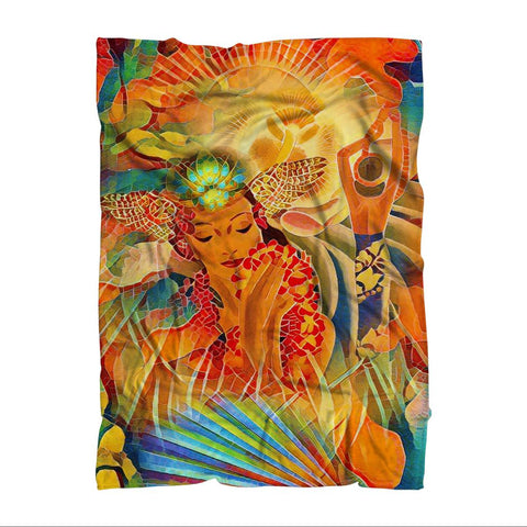 "Vintage Hawaii - Adult Blanket - Size: 130 X 175cm (51"" X 69"")_artist-Carlo-Bressan_Breathing-Wellness"