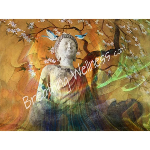 Breathing Buddha Birds - Visionary Art by Carlo Bressan_artist-Carlo-Bressan_Breathing-Wellness