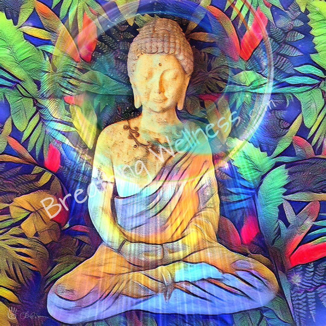 Buddha 1st Class Seat - Visionary Art by Carlo Bressan_artist-Carlo-Bressan_Breathing-Wellness