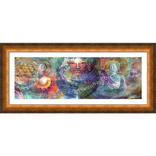 Buddha Healing Earth - Big Sizes Wall Art_artist-Carlo-Bressan_Breathing-Wellness
