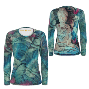 Buddha Time - Deluxe Long Sleeve T-Shirt 100% Pima Cotton_artist-Carlo-Bressan_Breathing-Wellness