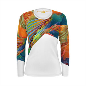 Hawaiian Style - Deluxe Long Sleeve T-Shirt 100% Pima Cotton_artist-Carlo-Bressan_Breathing-Wellness