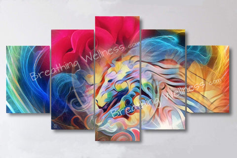 Horses & Roses - 5 Piece Canvas Wall Art Set_artist-Carlo-Bressan_Breathing-Wellness