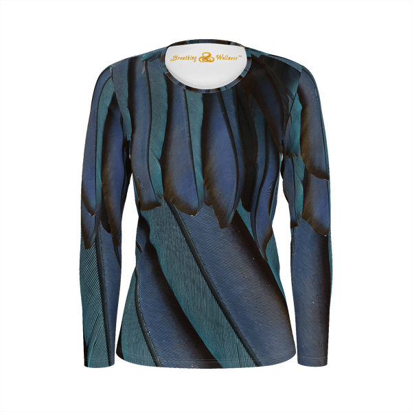 Just Fly - Deluxe Long Sleeve T-Shirt 100% Pima Cotton_artist-Carlo-Bressan_Breathing-Wellness