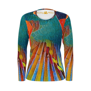 Ladies Night - Long Sleeve T-Shirt Deluxe Pima Cotton_artist-Carlo-Bressan_Breathing-Wellness