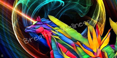 Lightsaber Unicorn - Large Size Wall Art_artist-Carlo-Bressan_Breathing-Wellness