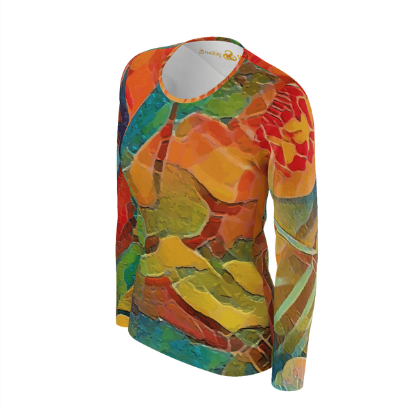 Mango no.5 - Deluxe Long Sleeve T-Shirt 100% Pima Cotton_artist-Carlo-Bressan_Breathing-Wellness