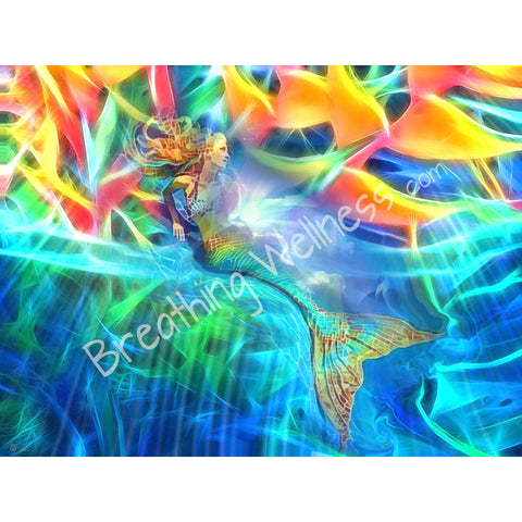 Mermaid Radiance - Hawaiian Art Collection_artist-Carlo-Bressan_Breathing-Wellness
