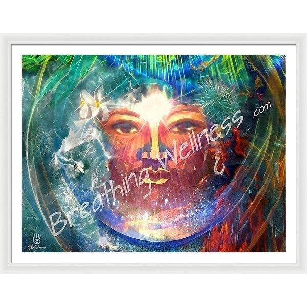 Pele - Here And Now - Hawaiian Art Framed Print_artist-Carlo-Bressan_Breathing-Wellness