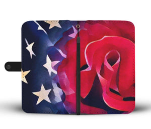 Red & Blue a Rose For You - Wallet Phone Case_artist-Carlo-Bressan_Breathing-Wellness