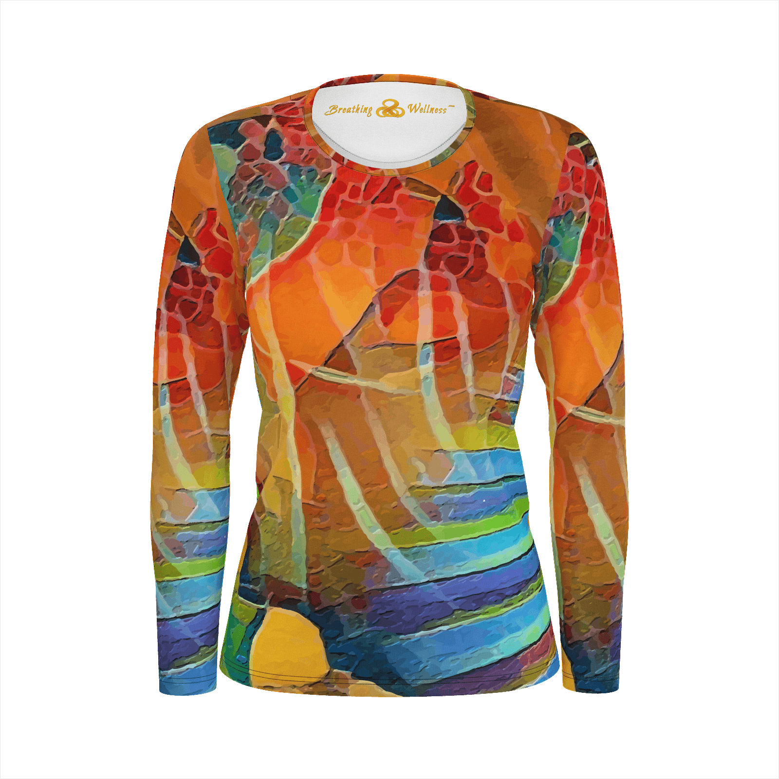 Sunday Morning - Deluxe Long Sleeve T-Shirt 100% Pima Cotton_artist-Carlo-Bressan_Breathing-Wellness