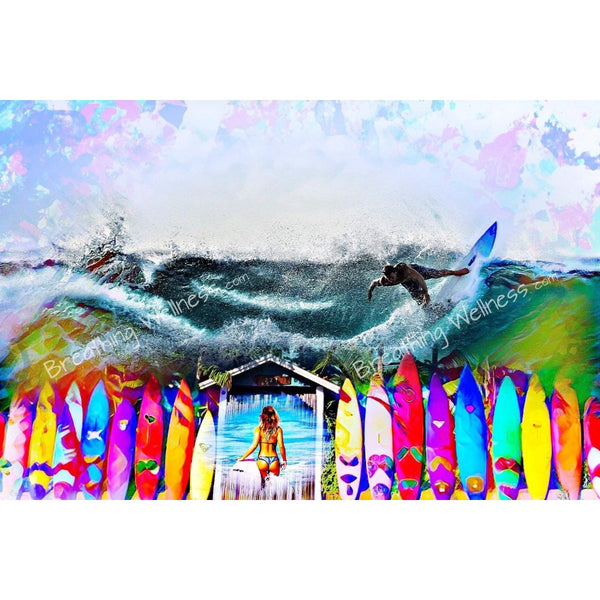 Surfer's Gate - Big Size Hawaiian Wall Art_artist-Carlo-Bressan_Breathing-Wellness