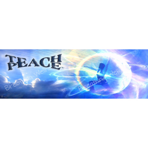 Teach Peace - Yoga Fine Arts - Large Size Wall Art_artist-Carlo-Bressan_Breathing-Wellness