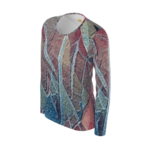 Terracotta - Long Sleeve Deluxe Pima Cotton_artist-Carlo-Bressan_Breathing-Wellness