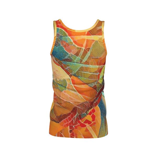 That's A Wrap - Deluxe Women's Tank Top 100% Pima Cotton_artist-Carlo-Bressan_Breathing-Wellness