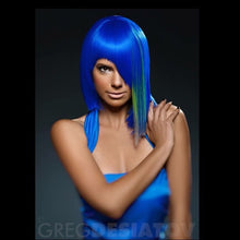 Wig Synthetic Blue