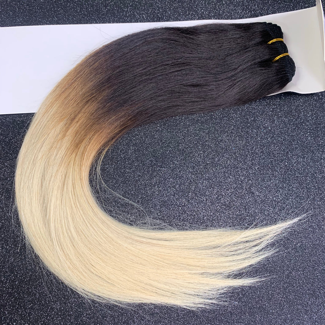 "Weft 20"" Training Human Hair 125grams #1B/60"