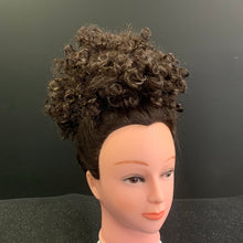 Afro Curly Bun Hair Piece Synthetic