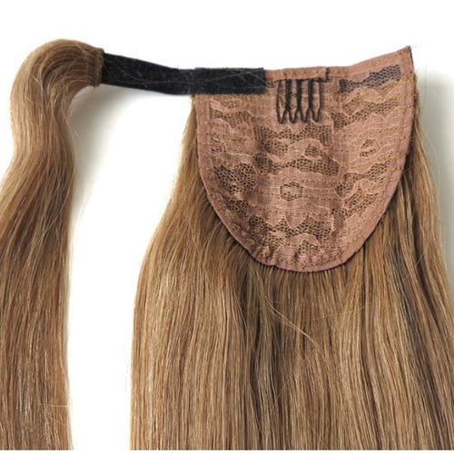 "Ponytail Wrap Around Human Hair Piece 20"" 100gram"