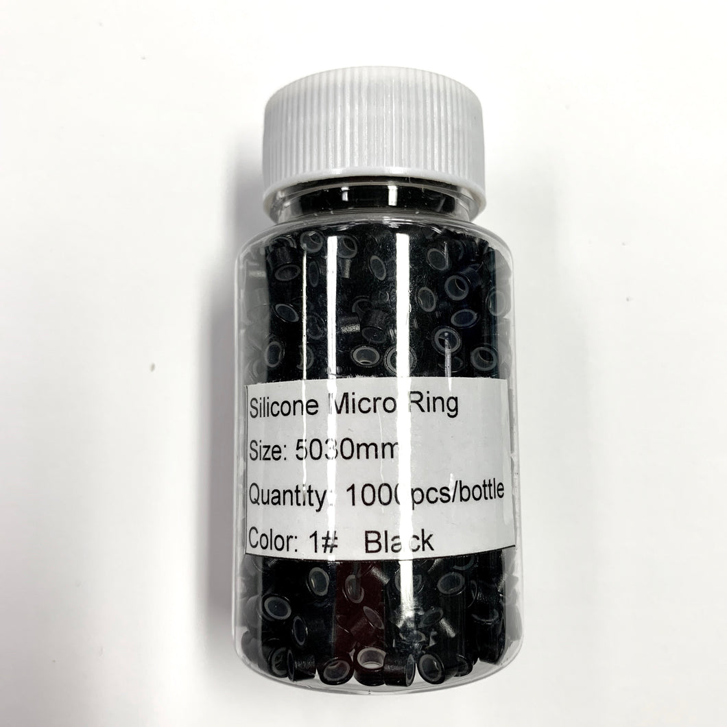 Micro link silicon lined beads 1000piece