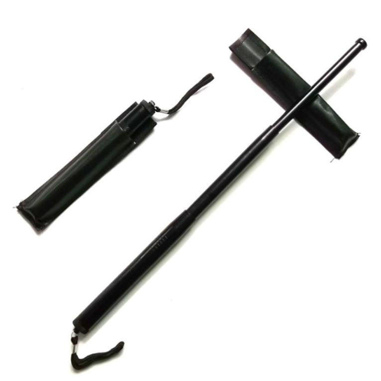 New Outdoor Climbing Sticks Driving Protection Telescopic  for Gifts (Color: Black)