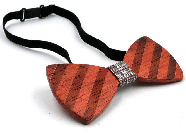 GUSLESON Fashion Wood Bow Tie