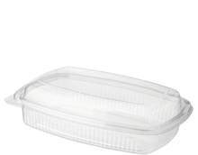 Load image into Gallery viewer, PET Hinged Deli Food Container 350ml, 500ml, 750ml, 1000ml
