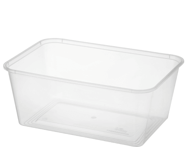 MicroReady Rectangular Takeaway containers 1000ml  pp clear