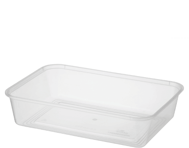 MicroReady Rectangular Takeaway containers 500ml  pp clear