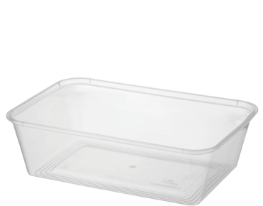 MicroReady Rectangular Takeaway containers 650ml  pp clear