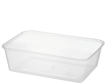 MicroReady Rectangular Takeaway containers 700ml  pp clear