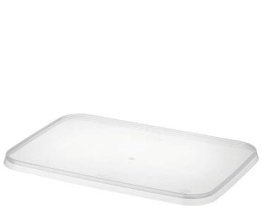 MicroReady Rectangular Takeaway container Lid Flat Fits All clear PP