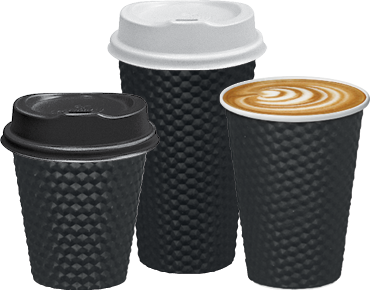 Castaway Dimple Double Wall  Hot Cups (Black)