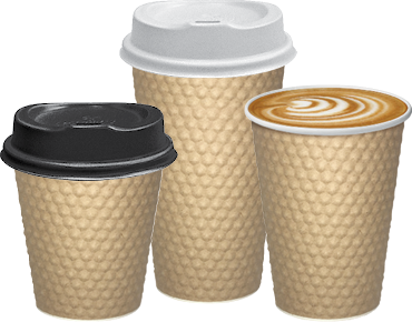 Castaway Dimple Double Wall  Hot Cups (Brown)