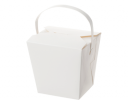 White Noodle Box with Handle
