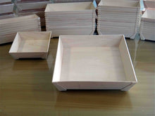WOODEN VENEER BOX - SQUARE  LGE