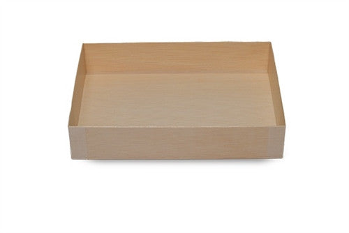 WOODEN VENEER BOX - COLLAPSIBLE LGE