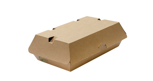 Compostable Kraft Burger Box F-Flute Medium
